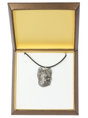Briard - necklace (silver plate) - 2901 - 31045