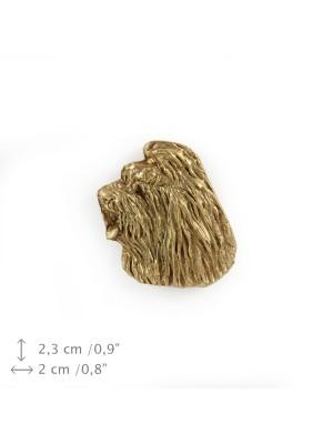 Briard - pin (gold plating) - 1076 - 7876