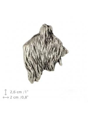 Briard - pin (silver plate) - 1535 - 26029