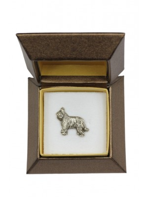 Briard - pin (silver plate) - 2685 - 28967