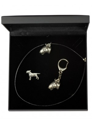 Bull Terrier - keyring (silver plate) - 1920 - 14136