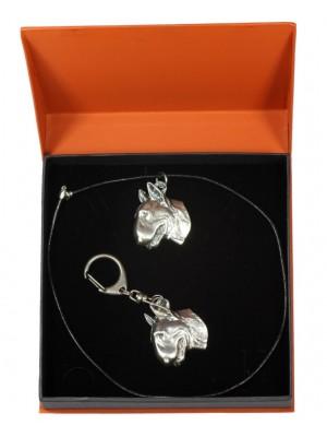 Bull Terrier - keyring (silver plate) - 2156 - 20100