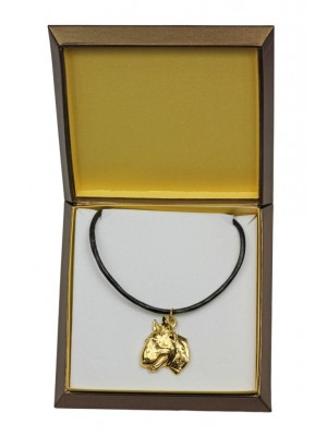 Bull Terrier - necklace (gold plating) - 2490 - 27649
