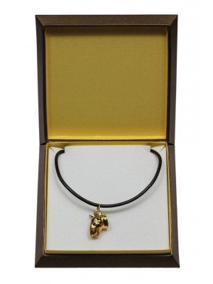 Bull Terrier - necklace (gold plating) - 3023 - 31659