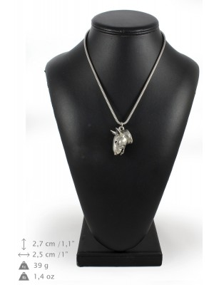 Bull Terrier - necklace (silver cord) - 3145 - 32961