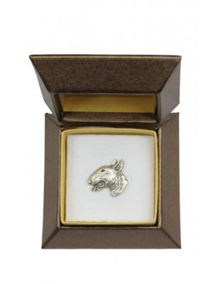 Bull Terrier - pin (silver plate) - 2659 - 28941