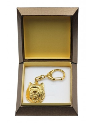 Cairn Terrier - keyring (gold plating) - 2884 - 30550