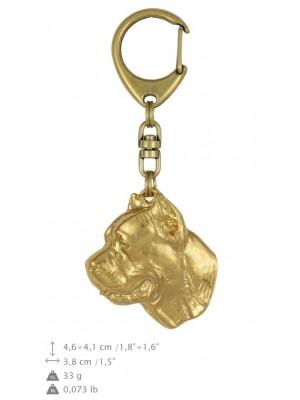 Cane Corso - keyring (gold plating) - 776 - 24995