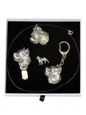 Cane Corso - keyring (silver plate) - 2087 - 18355