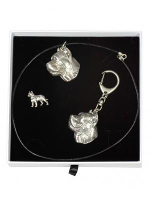 Cane Corso - keyring (silver plate) - 2106 - 18858