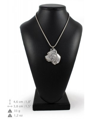 Cane Corso - necklace (silver cord) - 3139 - 32947