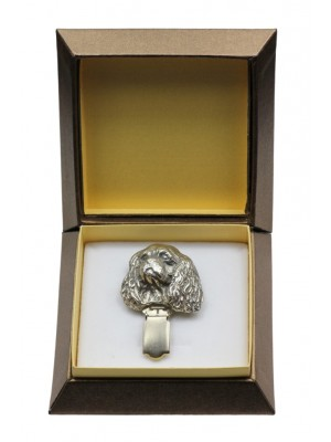 Cavalier King Charles Spaniel - clip (silver plate) - 2548 - 28129