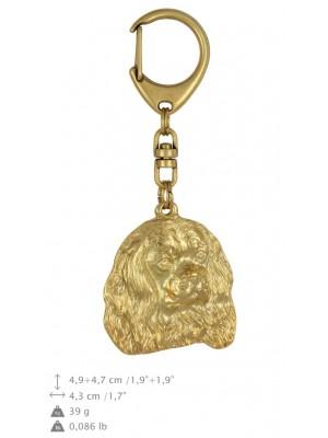 Cavalier King Charles Spaniel - keyring (gold plating) - 835 - 25174