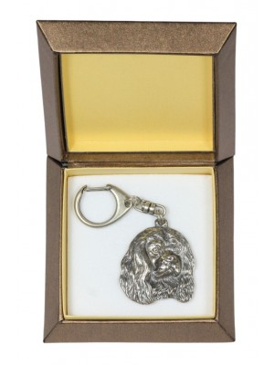 Cavalier King Charles Spaniel - keyring (silver plate) - 2764 - 29883