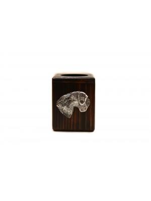 Cesky Terrier - candlestick (wood) - 4007 - 37940