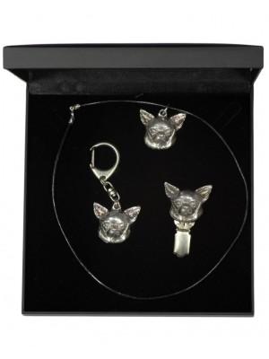 Chihuahua - keyring (silver plate) - 1891 - 13476