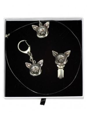 Chihuahua - keyring (silver plate) - 2067 - 17726