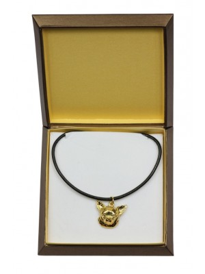 Chihuahua - necklace (gold plating) - 2512 - 27671