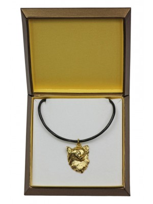 Chihuahua - necklace (gold plating) - 2517 - 27676