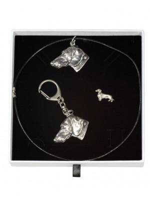 Dachshund - keyring (silver plate) - 2104 - 18807