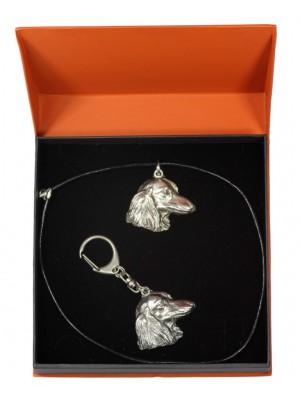 Dachshund - keyring (silver plate) - 2163 - 20271