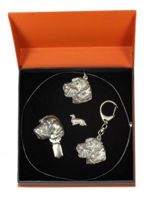 Dachshund - keyring (silver plate) - 2289 - 23867