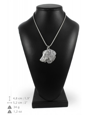 Dachshund - necklace (silver chain) - 3354 - 34596