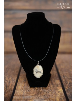 Dachshund - necklace (silver plate) - 3396 - 34762