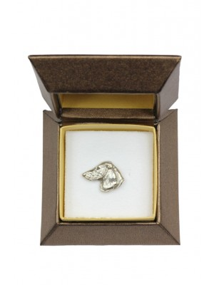 Dachshund - pin (silver plate) - 2634 - 28915
