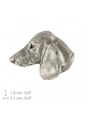 Dachshund - pin (silver plate) - 448 - 25882
