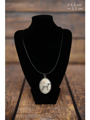 Dalmatian - necklace (silver plate) - 3383 - 34676