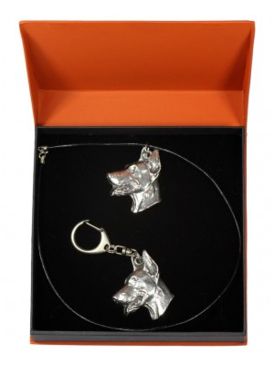 Doberman pincher - keyring (silver plate) - 2143 - 19776