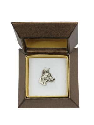Doberman pincher - pin (silver plate) - 2679 - 28961