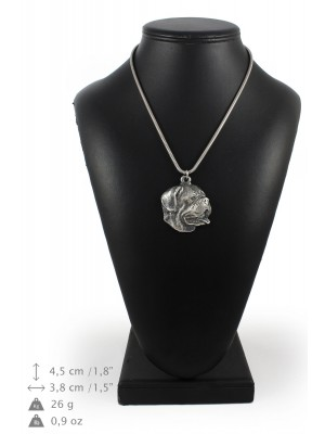 Dog de Bordeaux - necklace (silver chain) - 3303 - 34344