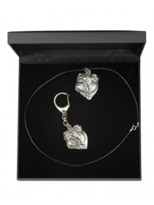 English Bulldog - keyring (silver plate) - 1764 - 11396