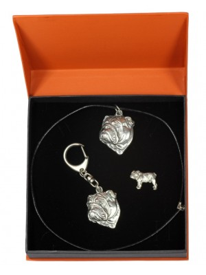 English Bulldog - keyring (silver plate) - 2315 - 24672