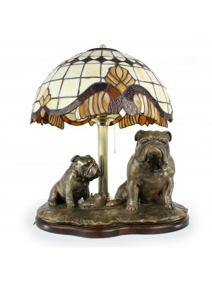 English Bulldog - lamp (bronze) - 659 - 7617