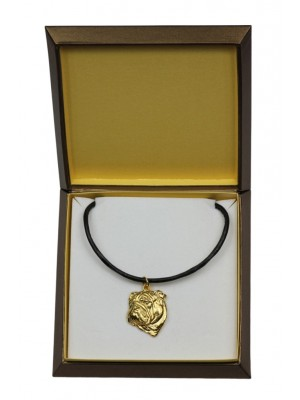 English Bulldog - necklace (gold plating) - 2472 - 27631