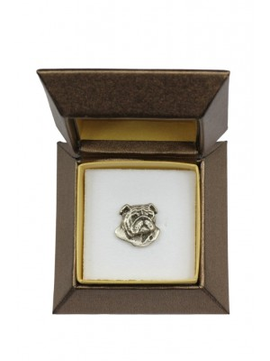 English Bulldog - pin (silver plate) - 2661 - 28943