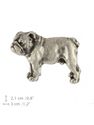 English Bulldog - pin (silver plate) - 444 - 25867