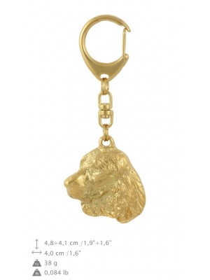 English Springer Spaniel - keyring (gold plating) - 847 - 30054