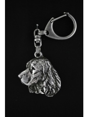 English Springer Spaniel - keyring (silver plate) - 1805 - 12030