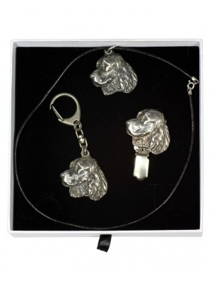 English Springer Spaniel - keyring (silver plate) - 2063 - 17604