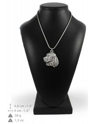 English Springer Spaniel - necklace (silver chain) - 3327 - 34466