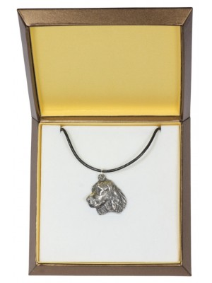 English Springer Spaniel - necklace (silver plate) - 2959 - 31103