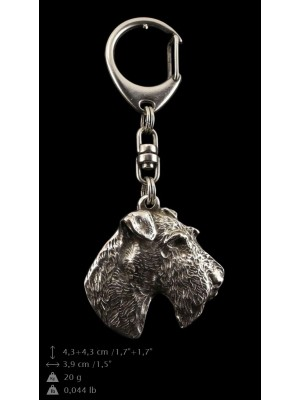 Foksterier - keyring (silver plate) - 4689 - 41870