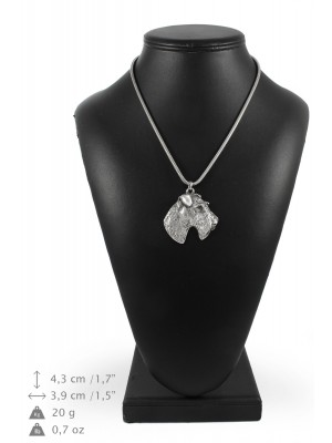 Foksterier - necklace (silver chain) - 3344 - 34498