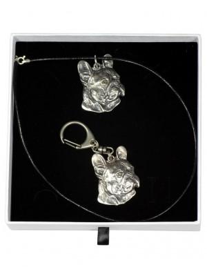 French Bulldog - keyring (silver plate) - 1968 - 15199