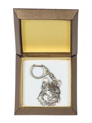 French Bulldog - keyring (silver plate) - 2753 - 29872