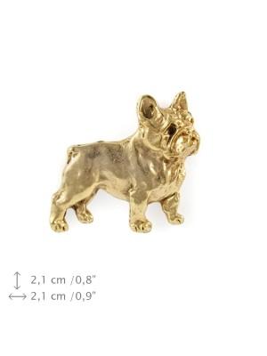 French Bulldog - pin (gold plating) - 1073 - 7785
